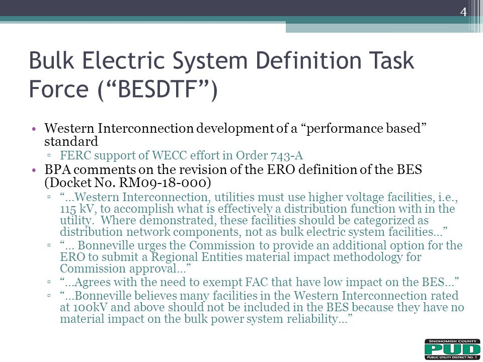 Bulk Electric System Definition Task Force ( BESDTF )