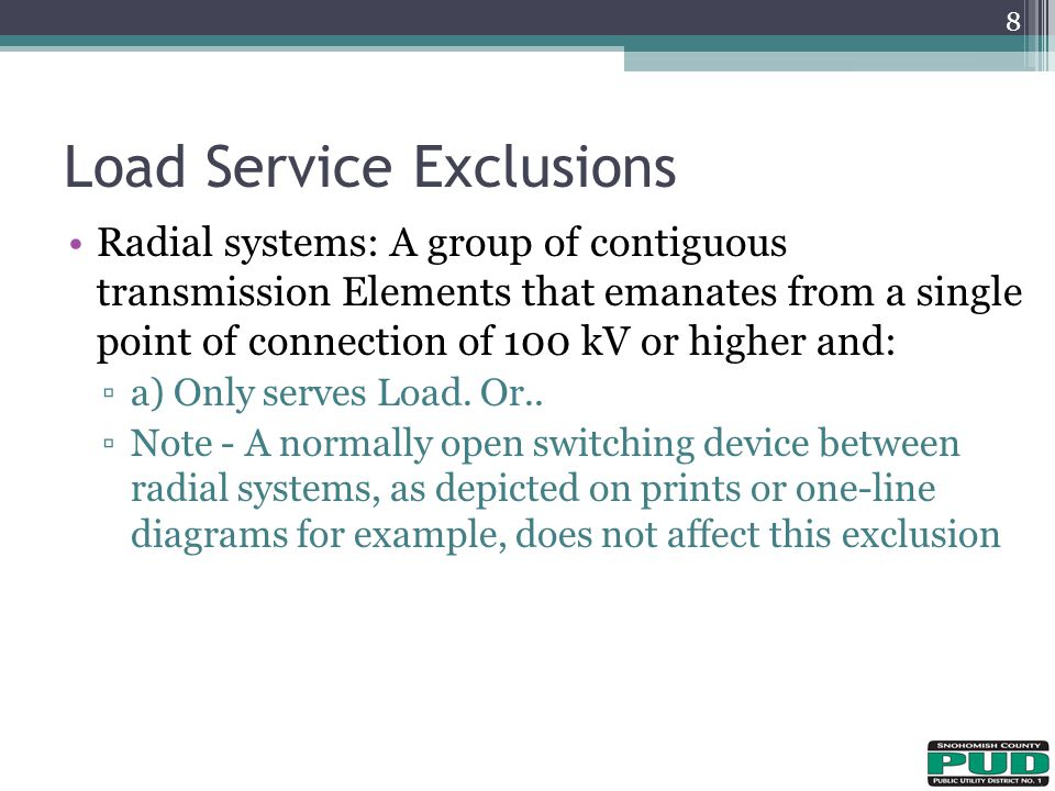 Load Service Exclusions