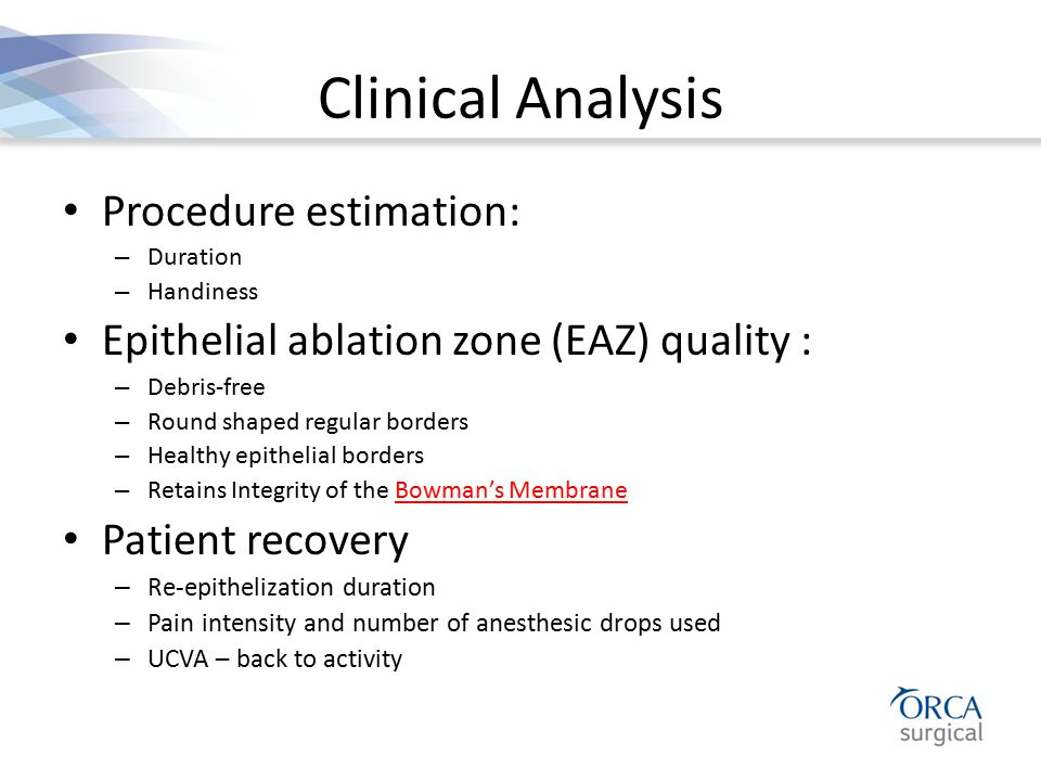 Clinical Analysis Procedure estimation:
