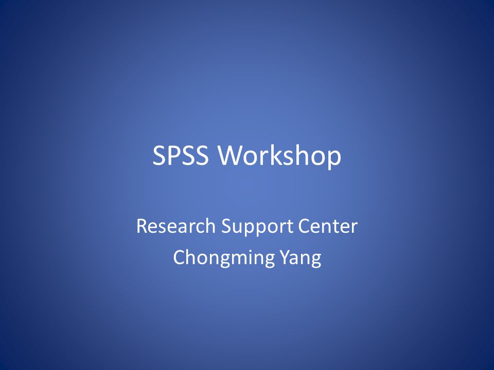 Research Support Center Chongming Yang