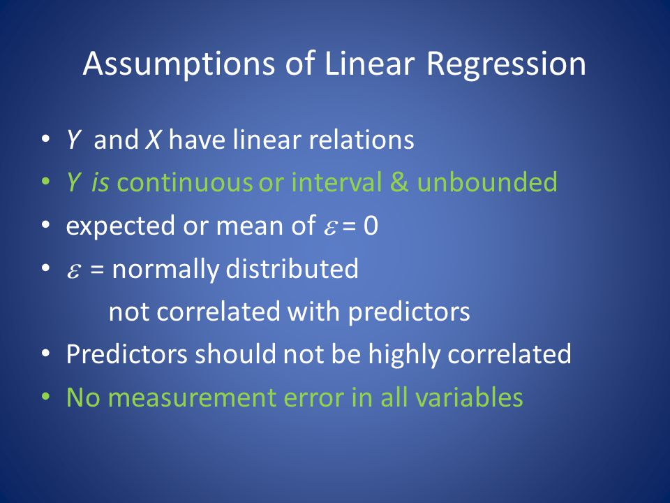 Assumptions of Linear Regression