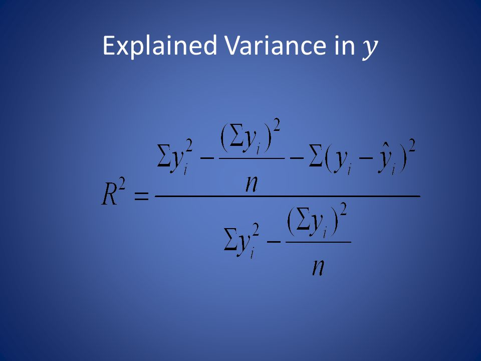 Explained Variance in 𝑦