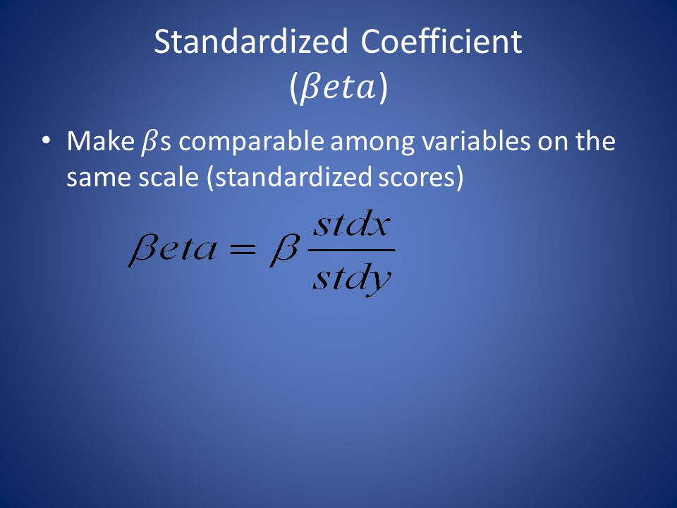 Standardized Coefficient (𝛽𝑒𝑡𝑎)