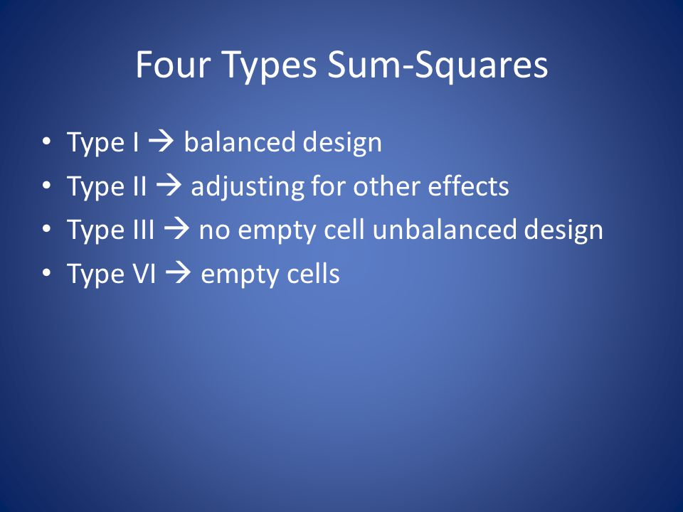 Four Types Sum-Squares