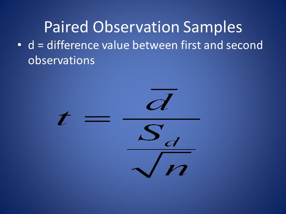Paired Observation Samples