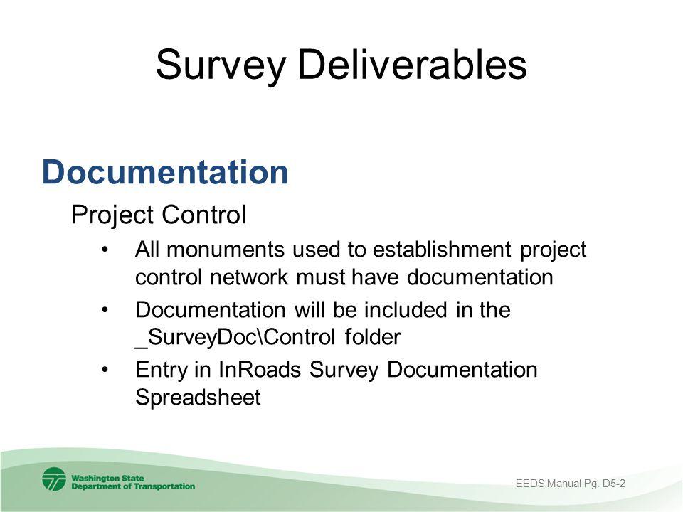 Survey Deliverables Documentation Project Control