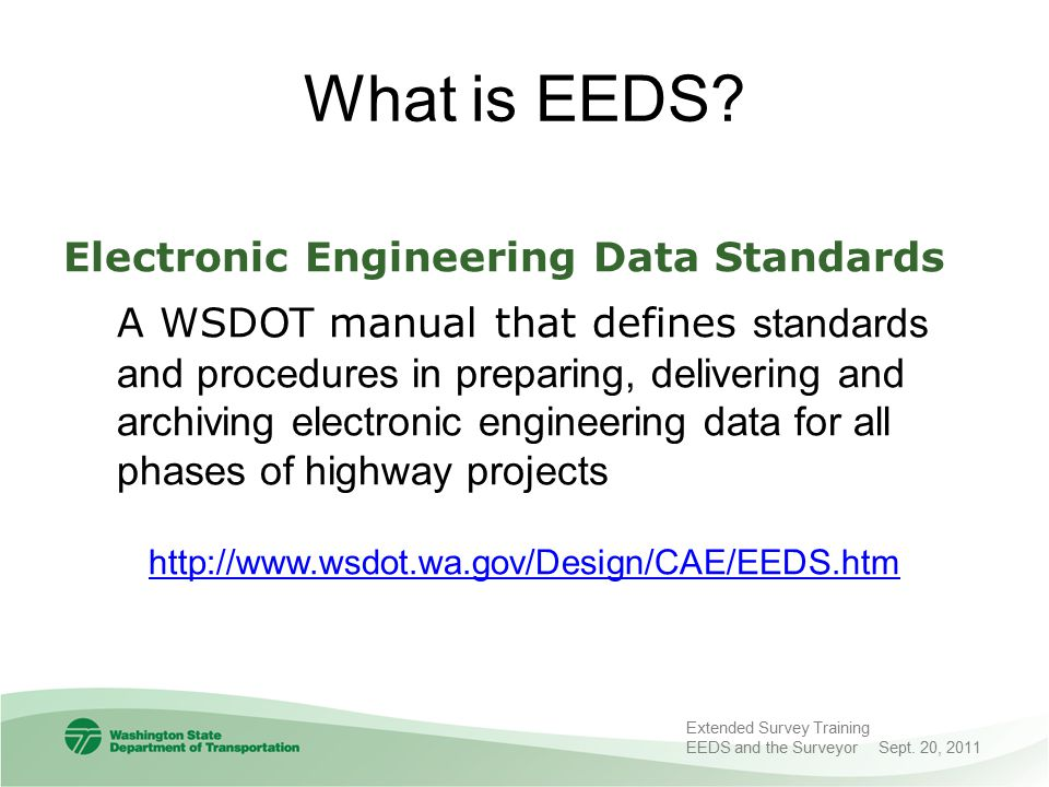 What is EEDS Electronic Engineering Data Standards.