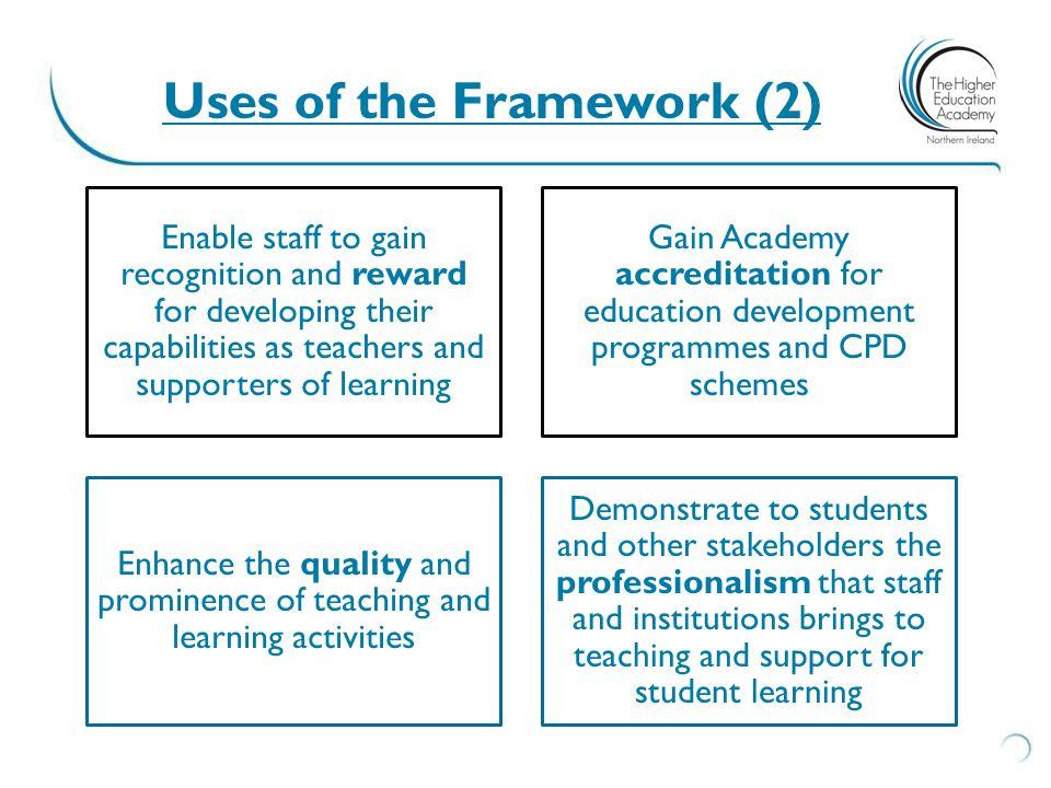 Uses of the Framework (2)