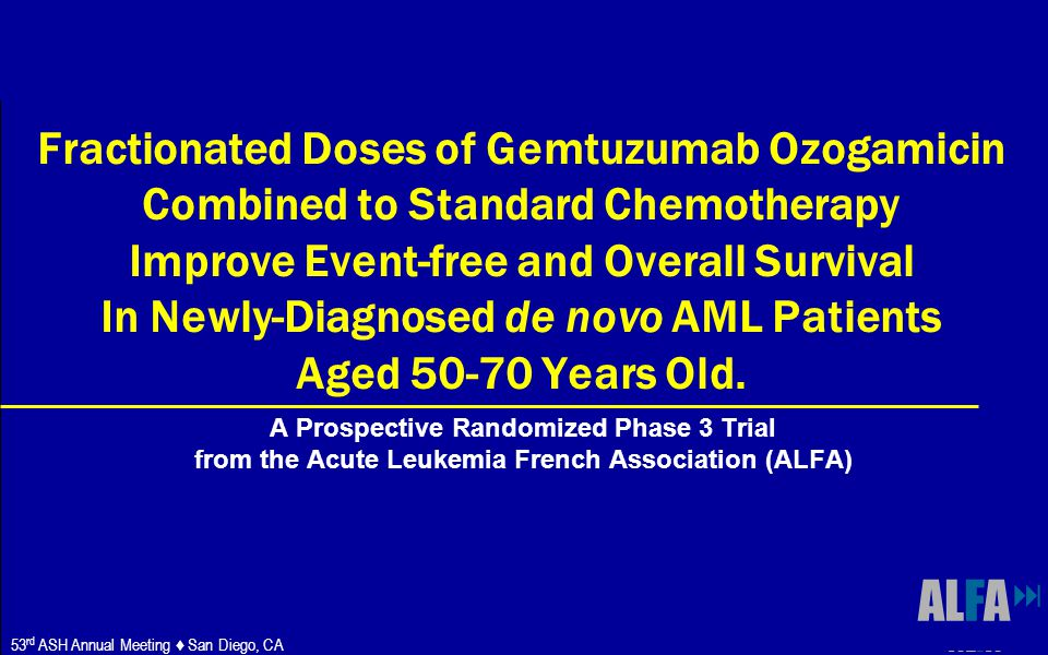 ALFA Fractionated Doses of Gemtuzumab Ozogamicin