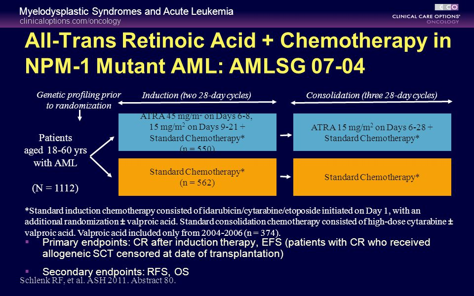 All-Trans Retinoic Acid + Chemotherapy in NPM-1 Mutant AML: AMLSG 07-04