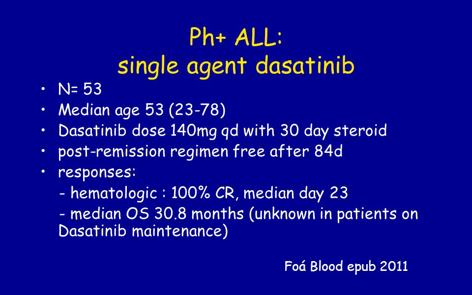 Ph+ ALL: single agent dasatinib