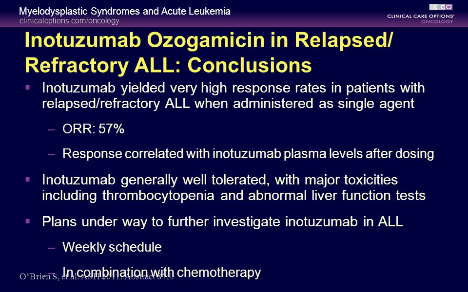 Inotuzumab Ozogamicin in Relapsed/ Refractory ALL: Conclusions