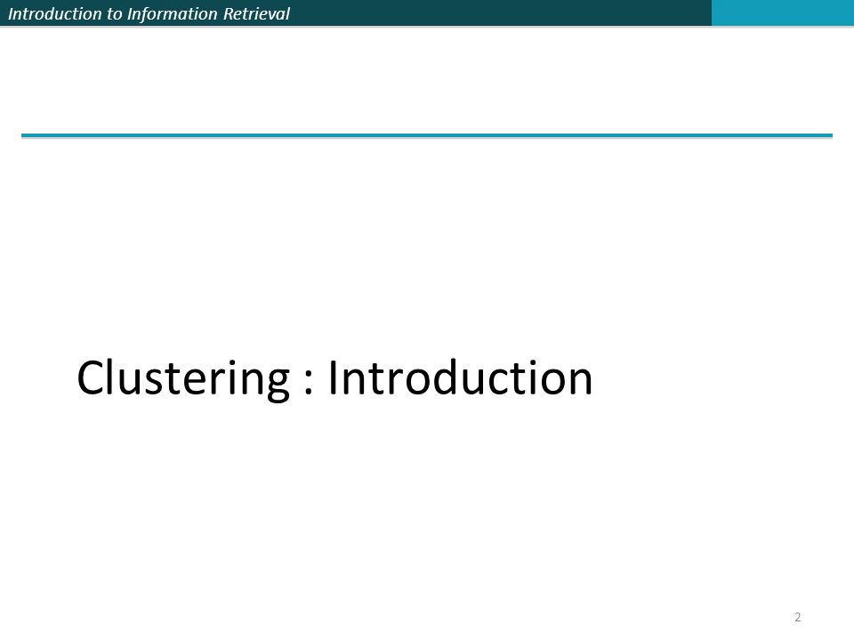 Clustering : Introduction