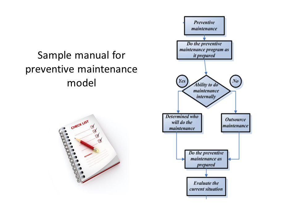 Sample manual for preventive maintenance model