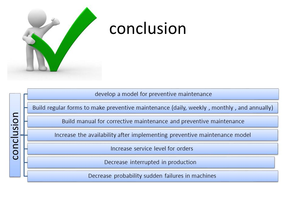 conclusion conclusion develop a model for preventive maintenance
