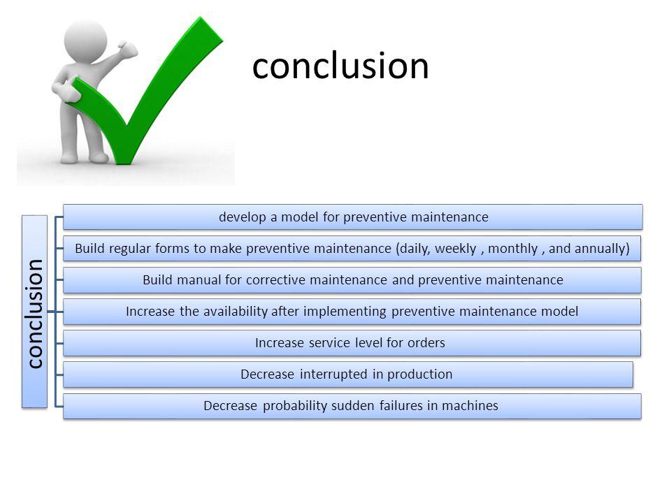conclusion conclusion develop a model for preventive maintenance