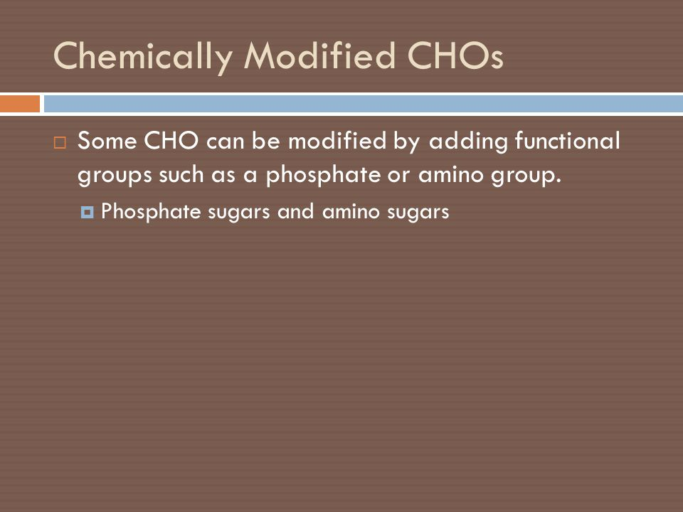 Chemically Modified CHOs