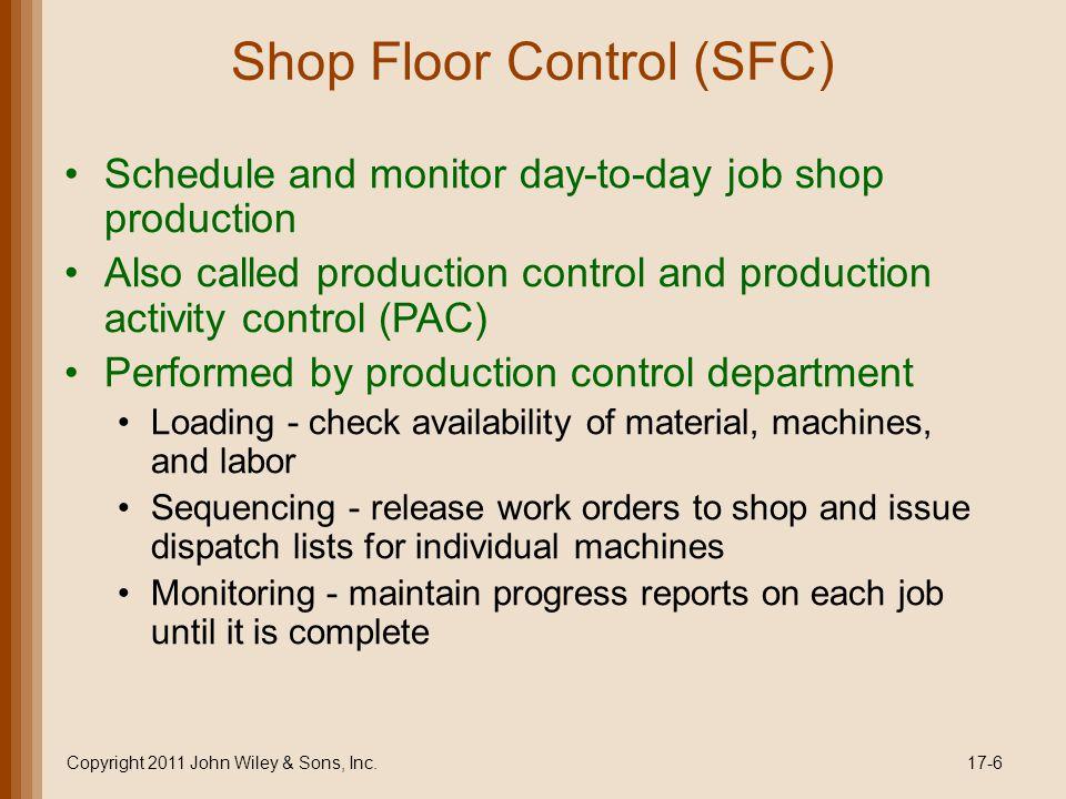 Shop Floor Control (SFC)