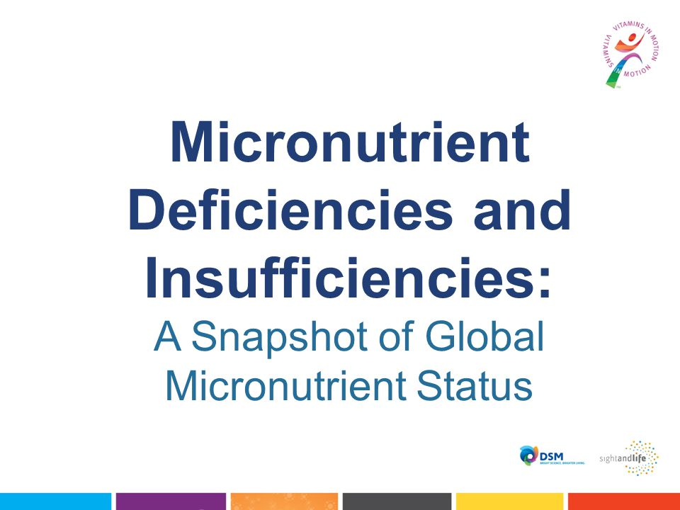 Micronutrient Deficiencies and Insufficiencies: A Snapshot of Global Micronutrient Status