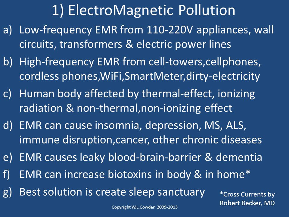 1) ElectroMagnetic Pollution