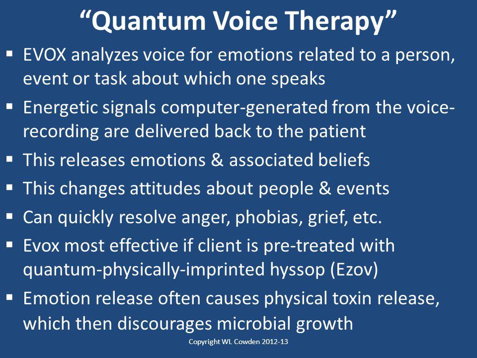 Quantum Voice Therapy