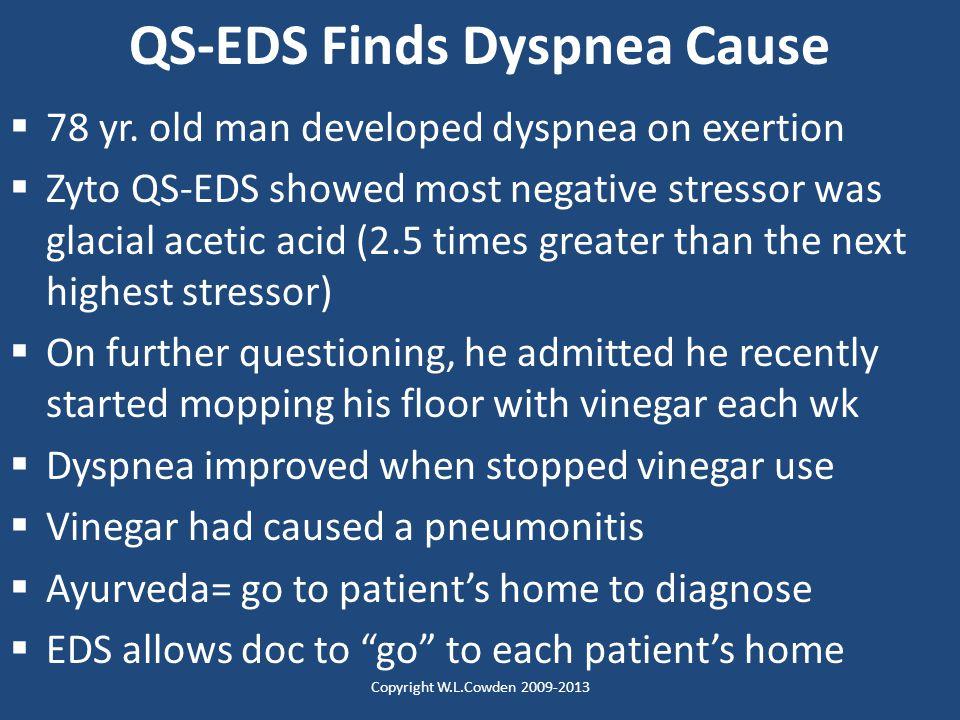 QS-EDS Finds Dyspnea Cause