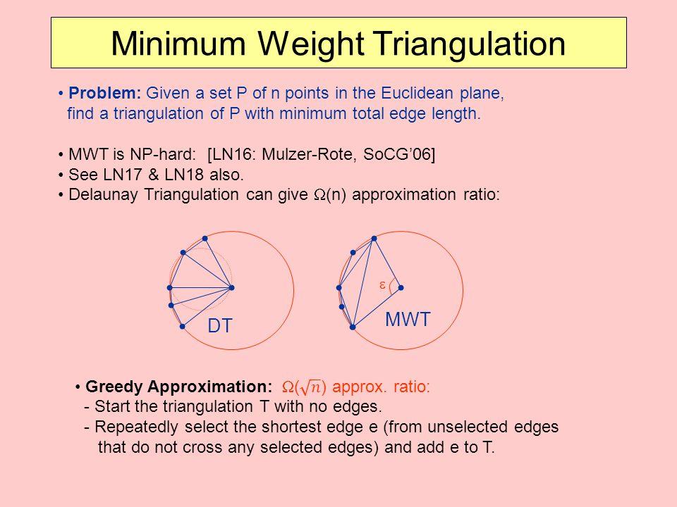 Minimum Weight Triangulation