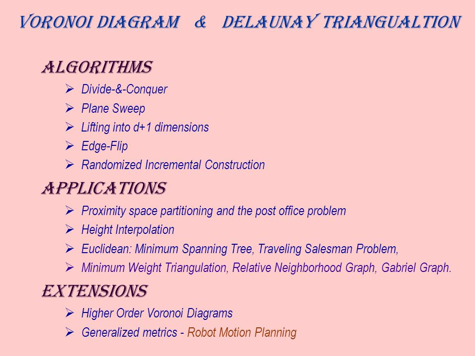 Voronoi Diagram & Delaunay Triangualtion