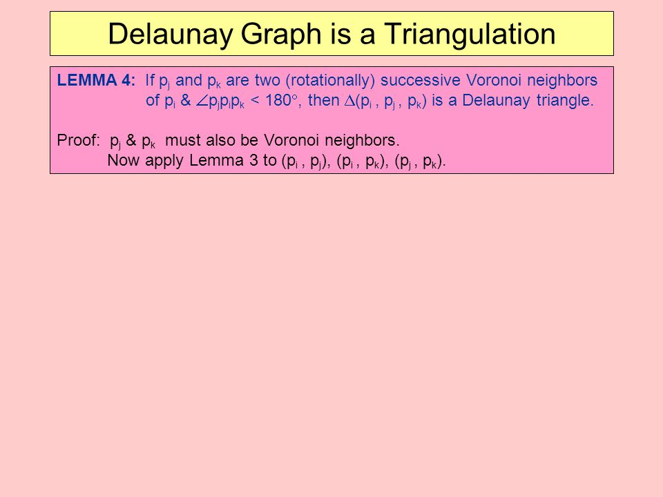 Delaunay Graph is a Triangulation