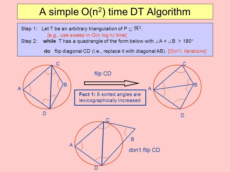 A simple O(n2) time DT Algorithm