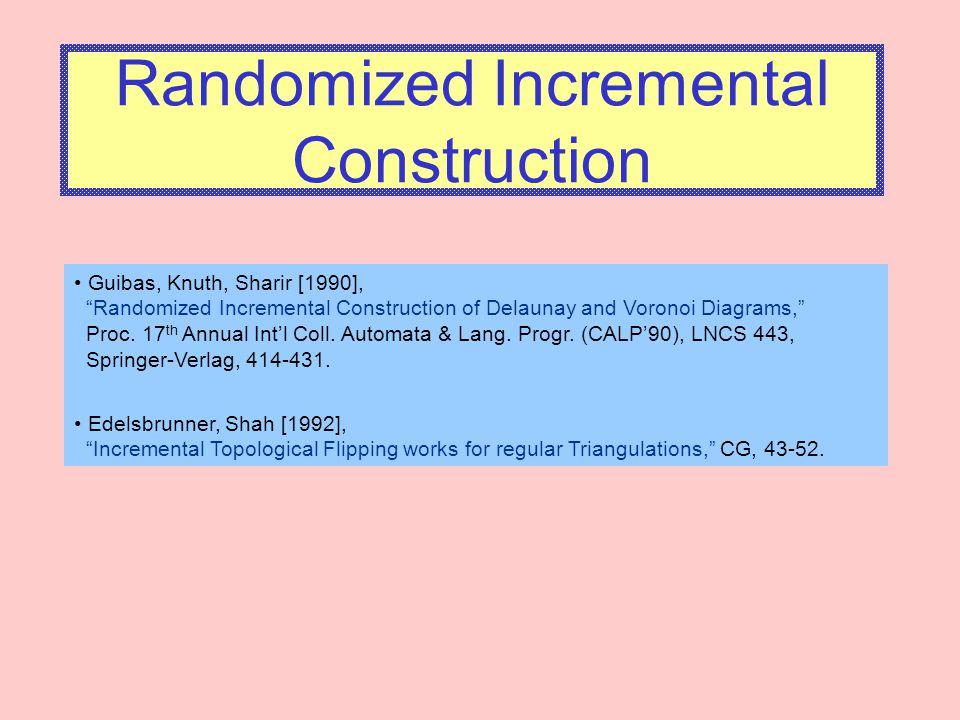 Randomized Incremental Construction