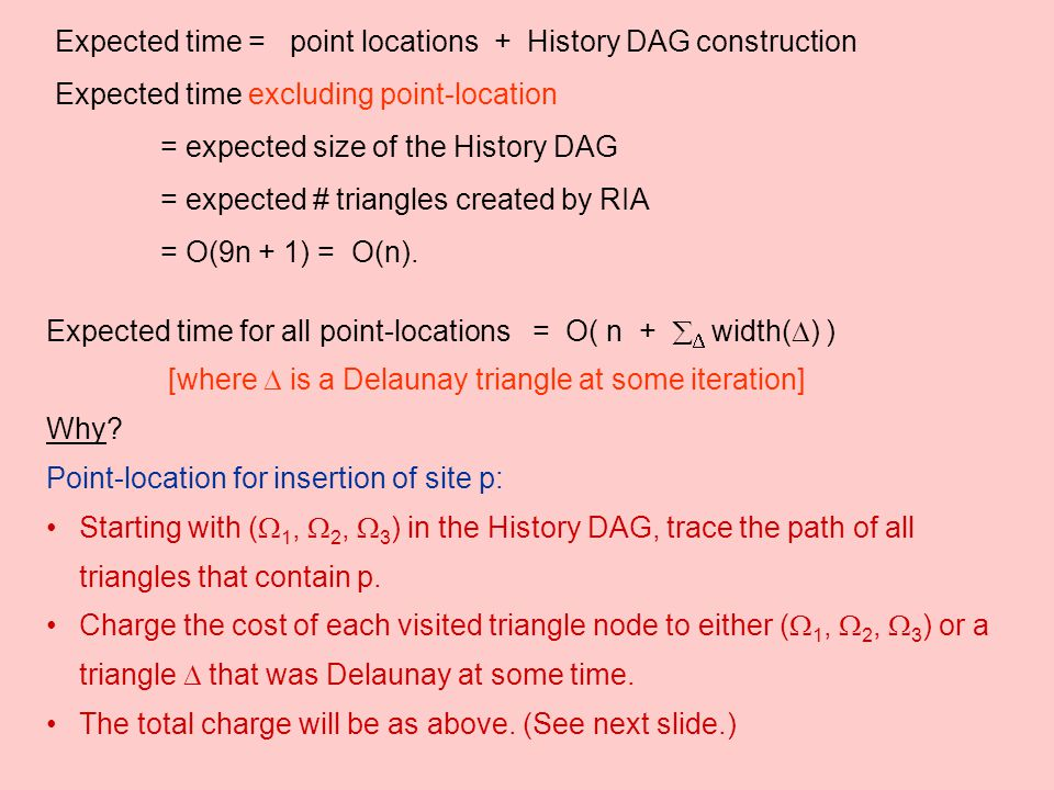 Expected time = point locations + History DAG construction
