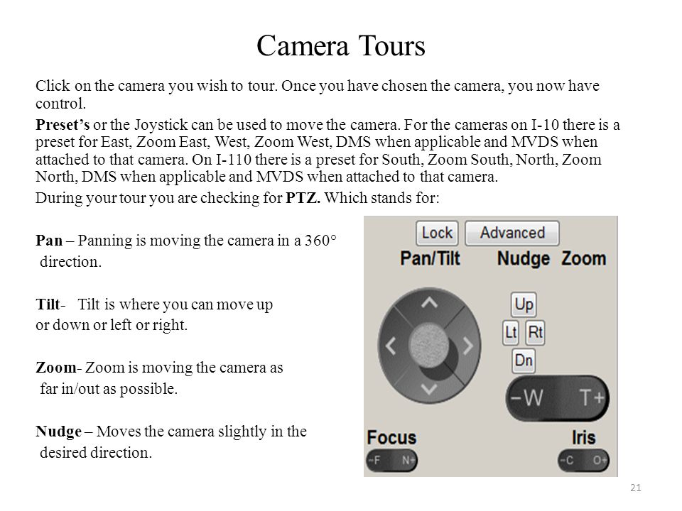 Camera Tours