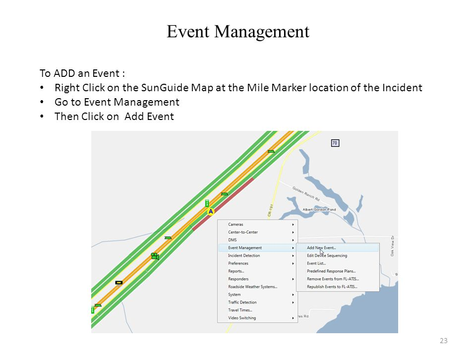 Event Management To ADD an Event :