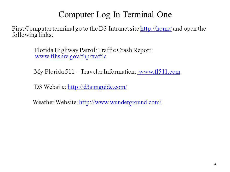Computer Log In Terminal One