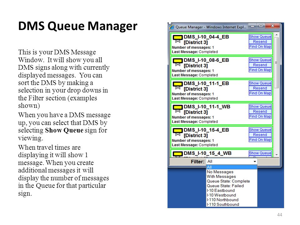 DMS Queue Manager