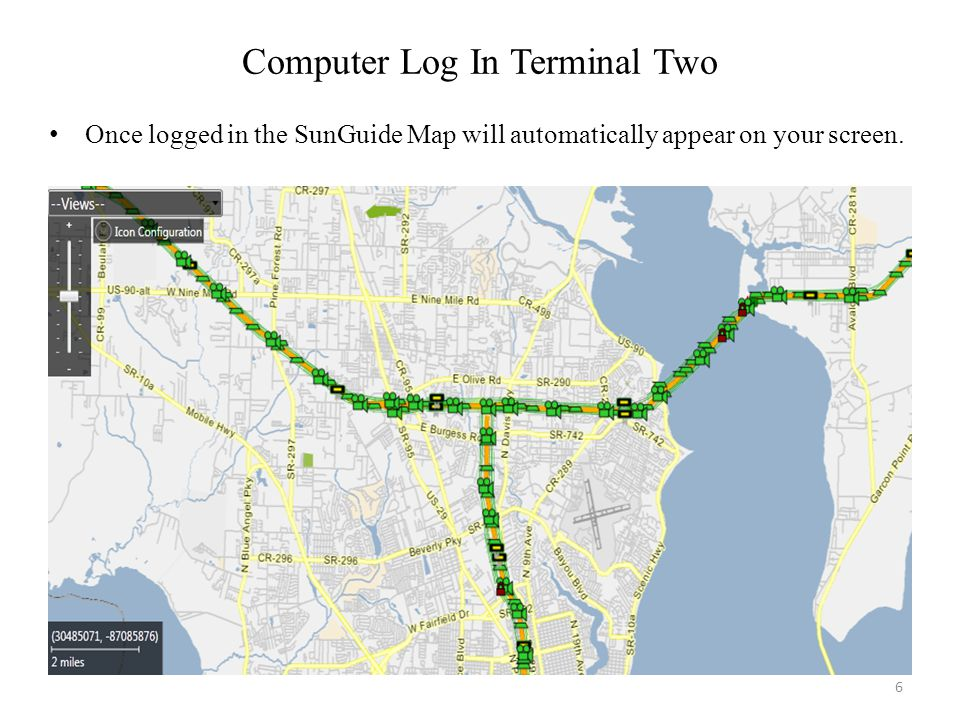Computer Log In Terminal Two