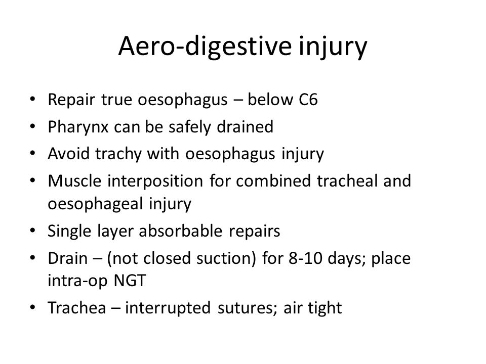 Aero-digestive injury