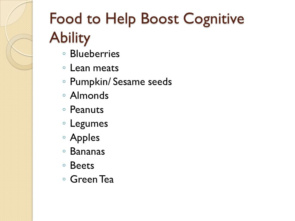 Food to Help Boost Cognitive Ability