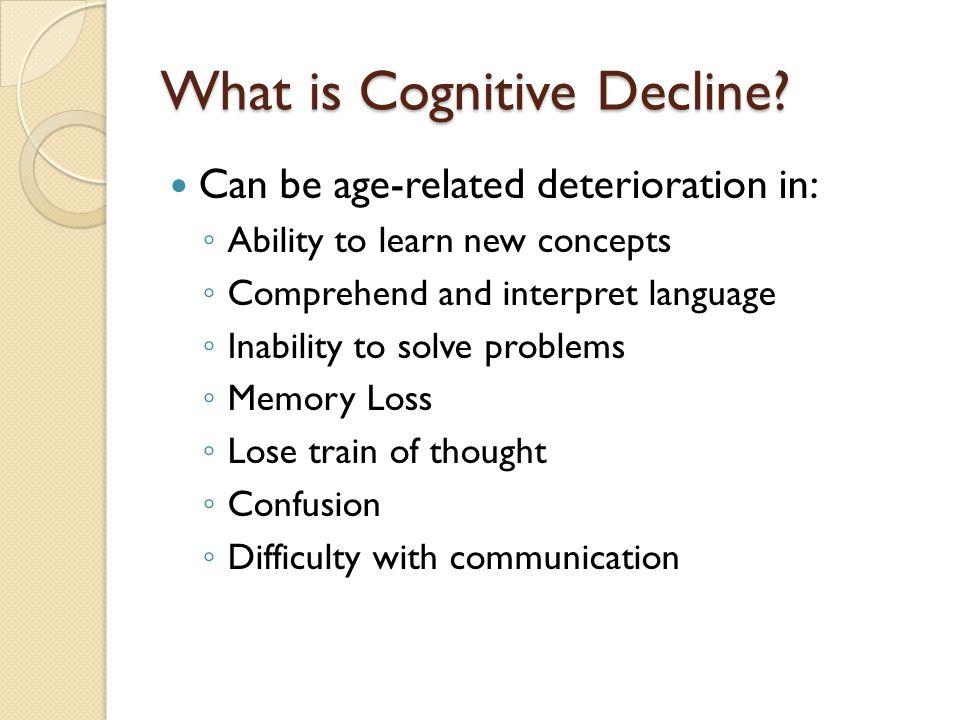 What is Cognitive Decline