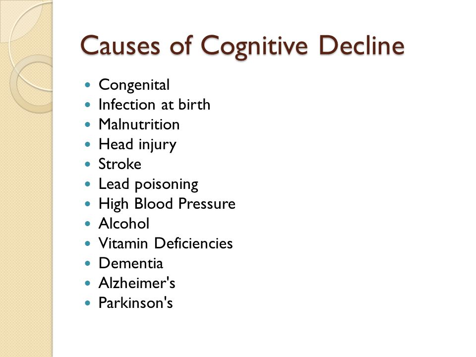 Causes of Cognitive Decline