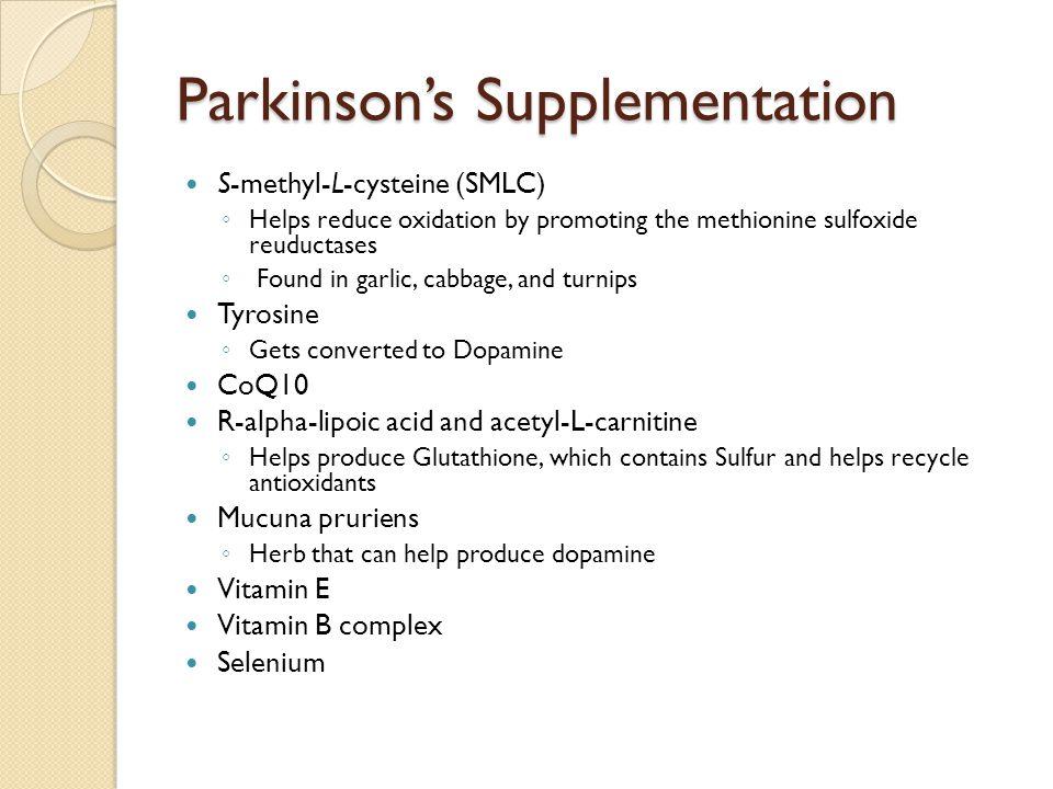 Parkinson's Supplementation