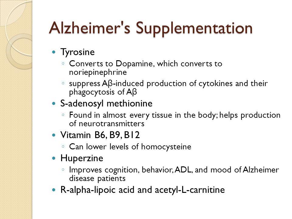 Alzheimer s Supplementation
