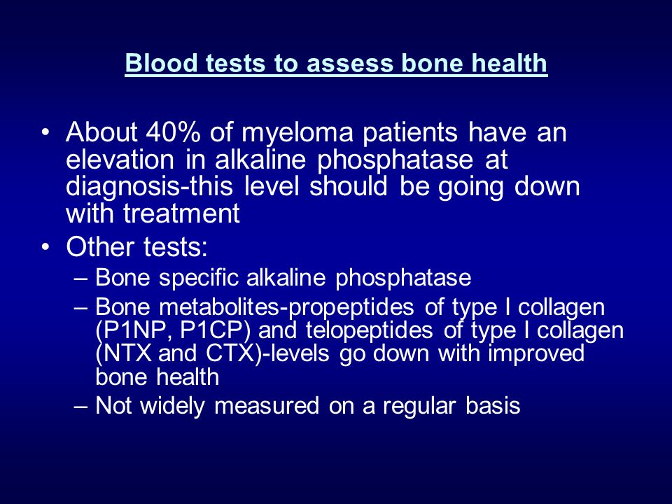 Blood tests to assess bone health