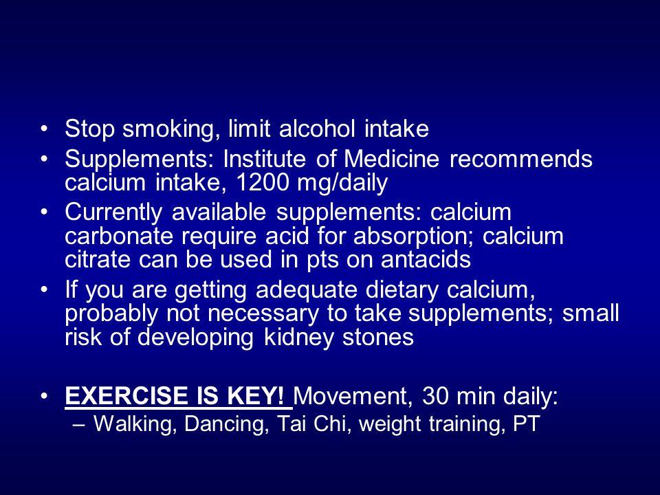 Stop smoking, limit alcohol intake