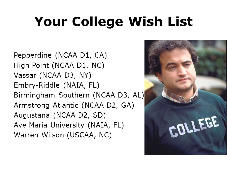 Your College Wish List