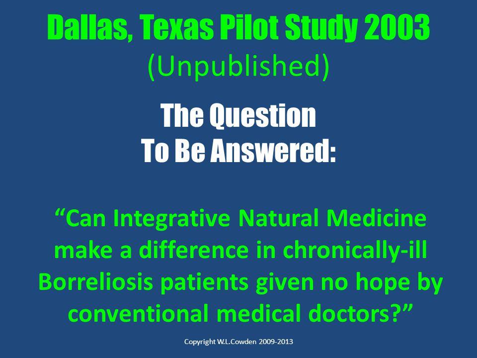 Dallas, Texas Pilot Study 2003 (Unpublished)