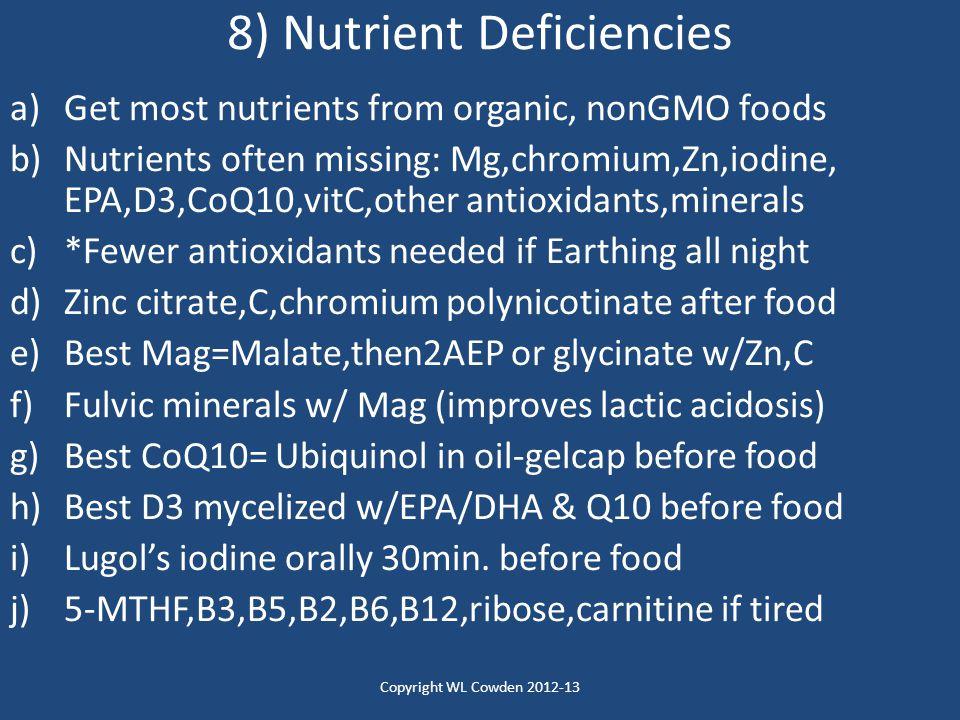8) Nutrient Deficiencies