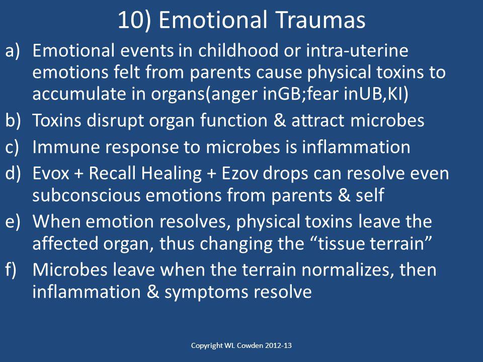 10) Emotional Traumas