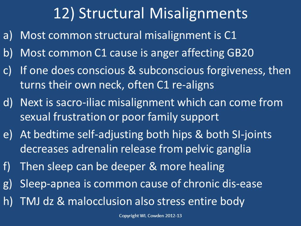 12) Structural Misalignments